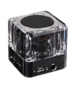 POWERTECH Bluetooth Speaker, Portable, 3W, Led Light, Black