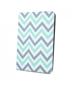 Universal case Zigzag grey-mint for tablet 7-8``