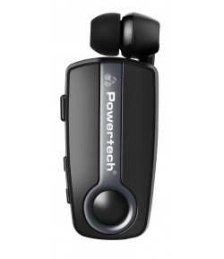 POWERTECH Bluetooth headset Klipp PT-732, multipoint, BT V4.1, γκρι