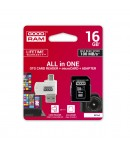GOODRAM microSDHC 16GB class 10 UHS I + adapter + card reader