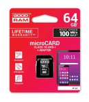 GoodRam microSDXC memory card (64 GB | cl. 10, UHS I) 30/15 MB/s + adapter