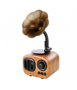 B7 Retro Gramophone Bluetooth Speaker 5W Ασύρματο Ηχείο - Light Brown