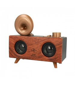 B6 Retro Gramophone Bluetooth Speaker 5W Ασύρματο Ηχείο - Dark Brown