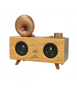 B6 Retro Gramophone Bluetooth Speaker 5W Ασύρματο Ηχείο - Light Brown