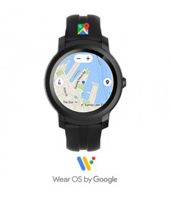 TicWatch E2 Shadow - Black, Google Wear Smartwatch