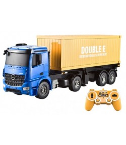 Lorry truck Mercedes-Benz 1:20 2.4GHz (lights, sounds, openable doors, removable semitrailer)