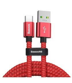 Baseus Double Fast cable USB - USB-C 1,0 m 5A red