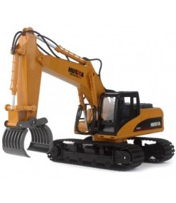 Huina (H-Toys): Tracked Excavator with Grapple 1:14 16CH 2.4GHz RTR