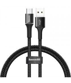 Baseus Halo Data cable Lightning with LED lamp 3A 1m (Black)