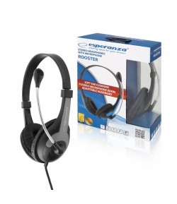 HEADSET WITH MICROPHONE ESPERANZA ROOSTER BLACK