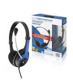 HEADSET WITH MICROPHONE ESPERANZA ROOSTER BLUE