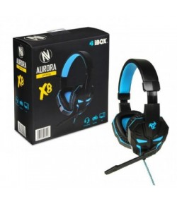 GAMING HEADSET WITH MICROPHONE IBOX SHPIX8MV X8