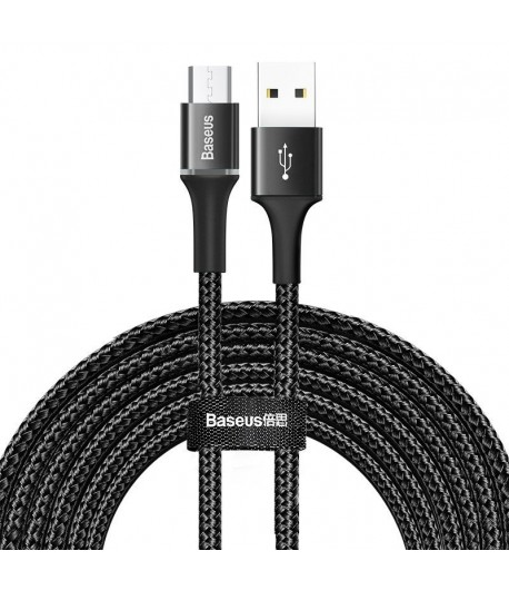 Baseus halo data cable USB For Micro 2A 3m Black