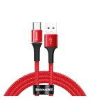Baseus halo data HW flash charge cable USB For Type-C 40W 1m Red