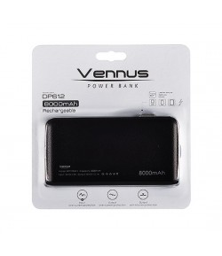 VENNUS Power Bank 8000mAh DP612 ORANGE + Iphone Adapter